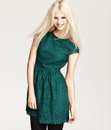 Vestido verde color unas